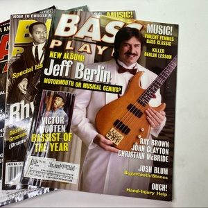 Vintage Accents - Vintage Bass Player Magazine Back Issues Musician